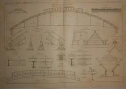 Plan D'une Toiture En Tôle Ondulée. 1910. - Public Works
