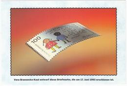 100 Pf. Briefmarke - Vera Braesecke-Kaul Entwarf Diese Briefmarke, Die Am 17. Juni 1993 Erschienen Ist - Sammler-Service - Postzegels (afbeeldingen)