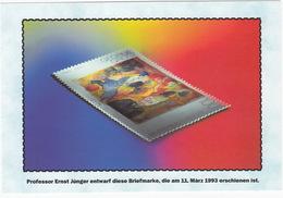 100 Pf. Briefmarke - Prof. Ernst Jünger Entwarf Diese Briefmarke, Die Am 11. Marz 1993 Erschienen Ist - Sammler-Service - Postzegels (afbeeldingen)