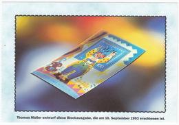 100 Pf. Briefmarke - Thomas Müller Entwarf Diese Briefmarke, Die Am 16. September 1993 Erschienen Ist - Sammler-Service - Postzegels (afbeeldingen)