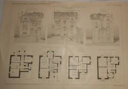 Plan D'une Villa Aux Côteaux De Saint Cloud En Seine Et Oise. M. L. Larlat, Architecte. 1910. - Public Works