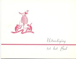 Uitnodiging Bal Feestzaal Cecilia Maldegem - Nieuw En Brielstraatkermis 1954 - Unclassified
