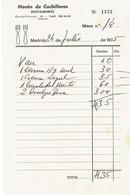 Ancienne Facture Du Restaurant Meson De Cuchilleros, Madrid (24/7/1975) - Spain