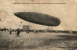 LUNEVILLE LE DIRIGEABLE ADJUDANT VINCENOT VENANT DE TOUL - Luneville