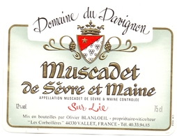 Etiket Etiquette - Vin - Wijn - Domaine Du Davignon - Muscadet De Sèvre Et Maine - Etiquettes