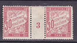 N° 33 Timbres Taxes Millésimés N° 3 Neuf Avec Trace De Charnière Au Dos - Millésimes