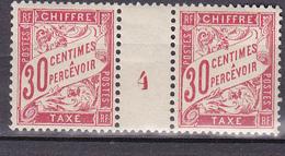 N° 33 Timbres Taxes Millésimés N° 4 Neuf Avec Trace De Charnière Au Dos - Millesimes