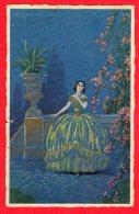 [DC11984] CPA - ILLUSTRATA FIRMATA MESCHINI - Viaggiata 1928 - Old Postcard - Illustratori & Fotografie