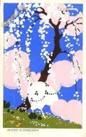 [DC11985] CPA - ILLUSTRATA FIRMATA MESCHINI - DIPINTA A MANO - INCANTI DI PRIMAVERA - Non Viaggiata 1932 - Old Postcard - Illustratori & Fotografie