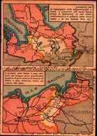 84570) CARTOLINA DOPPIA-DI PROPAGANDA CON MAPPE DELL'ITALIA E DELLA GERMANIA-SCRITTA - Carte Geografiche