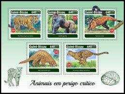 GUINEA BISSAU 2018 MNH** Gorillas Red Vari Endangered Species M/S - IMPERFORATED - DH1820 - Gorilles