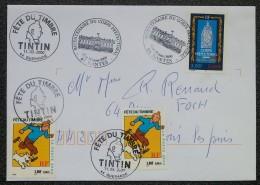 FDC 2000 - YT N°3300, 3303 - CORPS PREFECTORAL / TINTIN / FETE DU TIMBRE - NANTES / GUERANDE / CHOLET - FDC