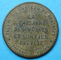 France - Jeton La Paysanne Des Vosges Château De Senonces Par Darney Vosges - Professionnels / De Société