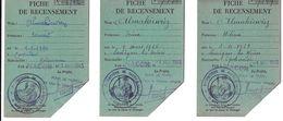CARTE DOCUMENT ADMINISTRATIF  FICHE DE RECENSEMENT 1945 MACON SAÔNE ET LOIRE 4 PIECES - Maps