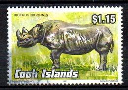 COOK. N°1040 Oblitéré De 1992. Rhinocéros. - Rhinozerosse