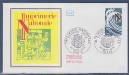 = Enveloppe 1er Jour 23 Septembre 1978 Imprimerie Nationale Paris 1f  N°2014  Presse Gutenberg à Main En Action - FDC