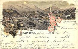[DC11994] CPA - SVIZZERA - SALUTI DA BELLINZONA - PERFETTA - Viaggiata 1899 - Old Postcard - TI Tessin