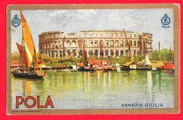[DC11995] CPA - POLA - VENEZIA GIULIA - Viaggiata 1928 - Old Postcard - Italy