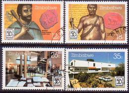 ZIMBABWE 1985 SG #681-84 Compl.set Used National Archives - Zimbabwe (1980-...)