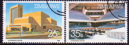 ZIMBABWE 1986 SG #688-89 Compl.set Used Harare Int.Conference Centre - Zimbabwe (1980-...)