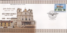 India  2015  Holy Spirit Church  Margao  GOA  Cover   #  12400   D Inde - Churches & Cathedrals