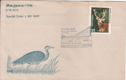 India  1976   Birds  Web Footed Goose  Hanging Bridge  RAJPEX  Morbi  Cover   #  11859   D Inde - Marine Web-footed Birds
