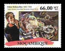 Mozambique Oskar Kokoschka Austria Paintings Painter 1v Stamp MNH Mi:5192 - Non Classificati