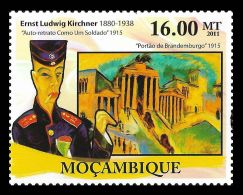 Mozambique Ernst Ludwig Kirchner Germany Paintings Painter 1v Stamp MNH Mi:5193 - Non Classificati