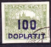 Tschechoslowakei CSSR - Portomarke (MiNr: 18b) 1922 - Gest Used Obl - Timbres-taxe