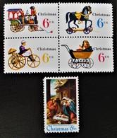 NOËL 1979 - NEUFS ** - YT 907/11 - Unused Stamps