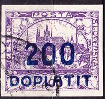 Tschechoslowakei CSSR - Portomarke (MiNr: 19) 1922 - Gest Used Obl - Timbres-taxe
