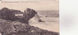 CPA - 6614. SAINT GUENOLE - PENMARC'H  -  Pointe De La Roche Du Moine En Tempête - Penmarch