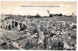 AISNE - Dépt N° 02 = VENDEUIL Dévasté = CPA NEUVE  SUPERBE + ANIMATION = Ruines De La Mairie + Ecoles - Other Municipalities