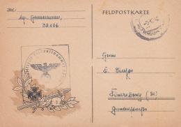 Feldpost WW2: Postcard With Ornaments From 11. Fernsprech-Instandhaltungs-Kompanie 651 FP 32176 P/m 9.12.1942 Using Old - Militaria