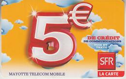 MAYOTTE - TÉLÉCARTE - GSM DU MONDE *** RECHARGE GSM - SFR 5€ / 12/10 *** - TAAF - Franse Zuidpoolgewesten