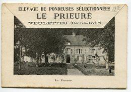 DEPLIANT PUBLICITAIRE POUR L ELEVAGE DE PONDEUSES LE PRIEURE A VEULETTES 76 - Advertising