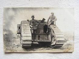 Ww1 Weltkrieg Soldat Allemand Carte Photo Char Tank Pilote   147 - Guerre 1914-18