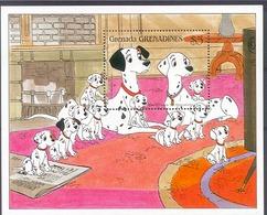 Myc459 WALT DISNEY 101 DALMATIERS HONDEN DOGS HUNDE CHIENS PERROS GRENADA GRENADINES 1988 PF/MNH - Disney