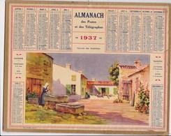 Almanach Des Postes Et Telegraphes 1937  Village Des Bardieres Carte Tarn Et Garonne - Big : 1921-40