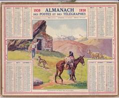 Almanach Des Postes Et Telegraphes 1930 Ravitaillement Du Berger Dans Les Pyrenées Carte Chemins De Fer Francais - Grossformat : 1921-40