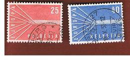 SVIZZERA  (SWITZERLAND) - 1957 EUROPA  - USED - Europa-CEPT