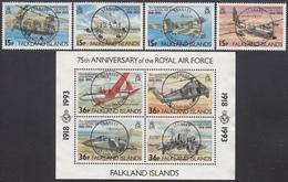 FALKLAND ISLANDS  Michel 580/83, BLOCK 11  Very Fine Used - Falkland