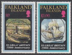 FALKLAND ISLANDS  Michel  592/93  Very Fine Used - Falkland