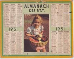 Almanach Des P.T.T 1951 Fillette Aux Poussins - Big : 1921-40