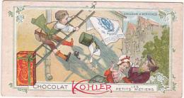 Chromo - Chocolat Kohler - Les Petits Métiers - Colleur D'affiches - Cigarettes
