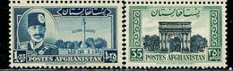 AFH342 Afghanistan 1951 Shah King And Architectural Eagle Prints 2V MNH - Afghanistan