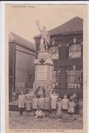 02 SEBONCOURT  Monument Aux Morts ,enfants Au Pied Du Monument - Autres Communes