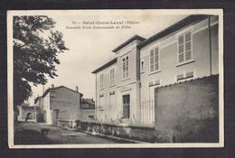 CPA 69 - SAINT-GENIS-LAVAL - Nouvelle Ecole Communale De Filles - TB PLAN Rue Etablissement Scolaire + Cour Récréation - Altri Comuni