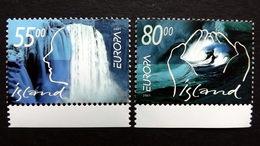 Island 981/2 **/mnh, EUROPA/CEPT 2001, Lebensspender Wasser - 1944-... Republik