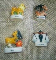 4 Fèves Collection Zodiaque Lion (2) Capricorne Balance - Other